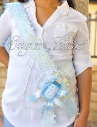 baby shower for to be baby shower to be it s a boy blue sash banner handmade