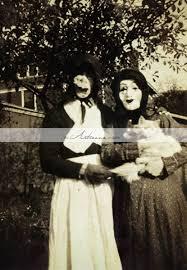 Vintage Creepy Halloween Photos Printable Art Instant Download Halloween Scary Masks Costumes