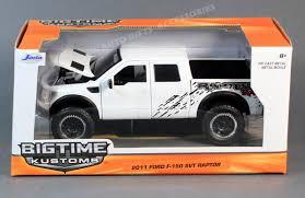 Ford Pickup Raptor 2011 - jada bigtime kustoms 96867 2011 ford f 150 svt raptor white 1 24