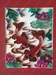 koi fish paper quilling decorative wall art buy home