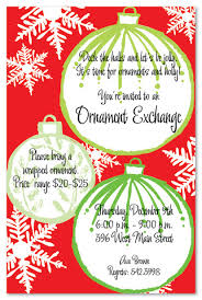 large retro ornaments invitation invitations 21280