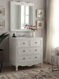 Bathroom Vanity Mirror Antique White Daleville Bath Vanity U0026 Mirror Hf081aw Mir Antique