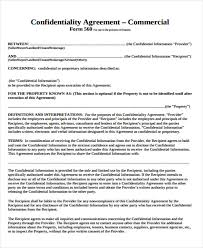 Commercial Contract Template 17 commercial agreement templates free sle exle format