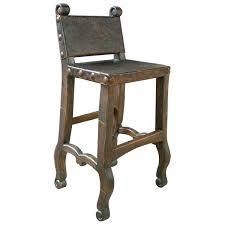 Bar Stool Tabouret Bistro Wood Seat Gunmetal Finish Bar Stools