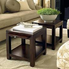 Coffee Table Cube Cube Coffee Table With Satin Nickel Hardware In Walnut