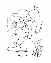 easter lamb coloring pages getcoloringpages