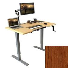 Computer Desk With Adjustable Keyboard Tray Omega Denali Adjustable Height Standing Desk W Steadytype