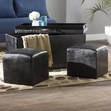 Black Storage Ottoman Black Ottomans U0026 Poufs You U0027ll Love Wayfair