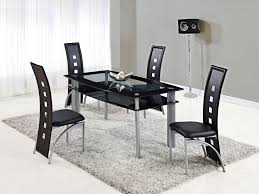 4 Seat Dining Table And Chairs Wood Black Dining Table Set Decorating Black Dining Table Set