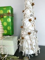 macrame tabletop tree tinselbox