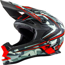evo motocross bikes oneal 7 series evo camo gray orange motocross helmet race off road