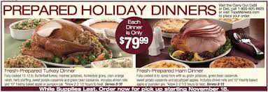 attn tops markets shoppers who wants free thanksgiving dinner