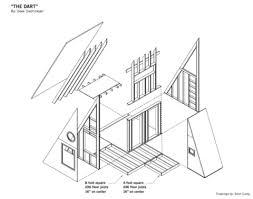 a frame plans the dart plans deek s half a frame 2 story cabin tiny house