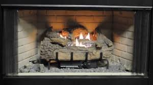 everwarm palmetto oak vent free gas logs burning display youtube