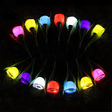 outdoor solar powered flower led light garden christmas party way