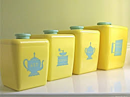 kitchen canister sets where can i find yellow canisters with
