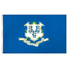 Colonial Flag Company Connecticut Flag 3 X 5 Feet Superknit Polyester