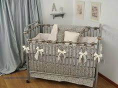 Nursery Bedding Sets Neutral Gender Neutral Crib Bedding In Grey And Yellow Fabrics In