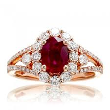ruby diamond ring genuine ruby and diamond set in 18k gold