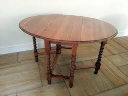 Oak Drop Leaf Table Solid Oak Drop Leaf Table 1920s Bagham Barn Antiques