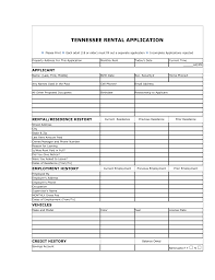 free tennessee rental application form word pdf eforms