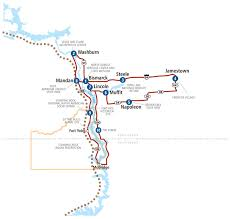 Lake Sakakawea Map Central U0026 East North Dakota Lewis U0026 Clark Trail