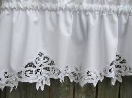 Battenburg Lace Curtains Panels Country Battenburg Lace Curtain Valance In White By Homestyled