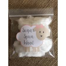 lil baby shower decorations sugar spun wool stickers cotton candy favors