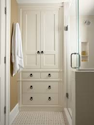 bathrooms design corner linen cabinet for space saving bathroom