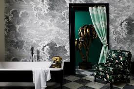 bathroom mural ideas fornasetti cloud wall mural bathroom wallpaper houseandgarden
