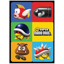 super mario bros sticker sheet 4 birthdayexpress