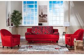 Modern Sofa Bed Queen Size Red Futon Couch Fantasy Contemporary Sofa Sleeper The Futon Shop