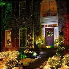 Christmas Lights Projector On House by Outdoor Waterproof Laser Light Projector Garden Yard Lawn Lamp W