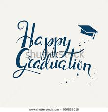 graduation cards lettering poster happy graduation stock vector