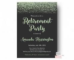 retirement party invitations mint glitter retirement party invitation retirement party