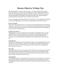 Chiropractic Resume Objective In A Resume Examples How To Write A Career Objective On