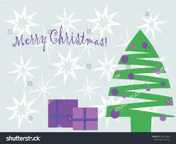 Decorate With Christmas Cards Christmas Greeting Cards Decorated Christmas Tree Stock Vector