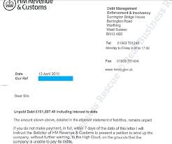 7 day warning letter from hmrc winding up petition