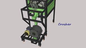 homemade gold trommel design 3d animation of trommel with impact mill rock crusher youtube