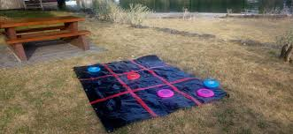 Backyard Drinking Games Tic Tac Toss Frisbee Drinking Game With Easy To Setup Diy Instructions