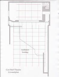 ground plan gist hall theatre theatre arts