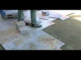 Installing Travertine Tile Travertine Paver Pool Deck Installation Part 2 Youtube