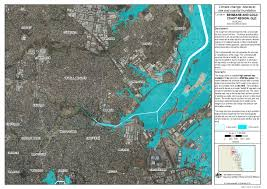 Sea Level Map Usa by Low Lying Brisbane Suburbs Will Flood If Sea Levels Rise Experts