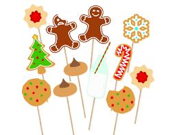 printable christmas cookies photo booth props christmas