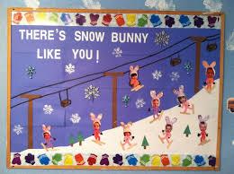 winter classroom bulletin board