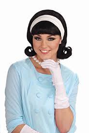 1950s headband forum novelties womens 50 s flip wig with headband