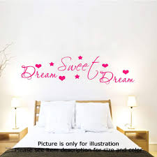 Bedroom Wall Stickers Sayings Dream Sweet Dream Romantic Bedroom Wall Quote U2013 Jr Decal Wall Stickers