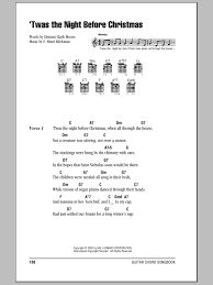 twas the night before christmas sheet music by clement clark moore