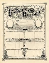antique ephemera clip art printable family record certificate