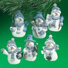 ornaments blue snowmen ornaments